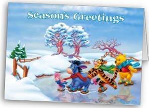 Winnie The Pooh Christmas Card