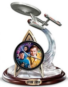 The Final Frontier STAR TREK Tabletop Clock
