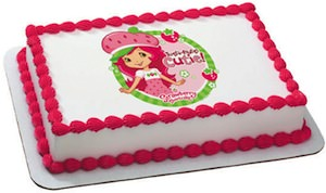 Strawberry Shortcake Edible image Cake Topper