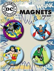 DC Comics Superhero magnet with Batman, Superman, Green Lantern and wonder woman