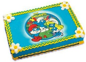The smurfs edible picture cake topper