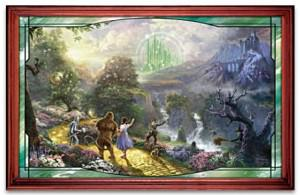 The Wizard Of Oz Stained-Glass Panorama Wall Decor: Dorothy Discovers The Emerald City