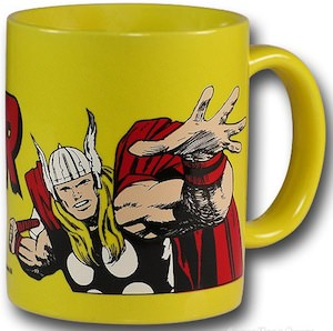 Yellow thor ceramic mug