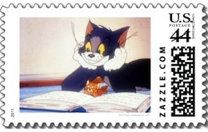 Tom and jerry US postage stamps