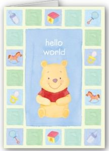 Disney winnie the pooh personal greeting card
