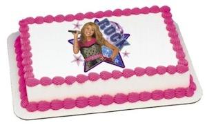 Hannah Montana edible cake topper