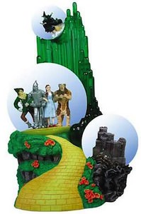 Wizard of Oz Emerald City Triple Snow Globe