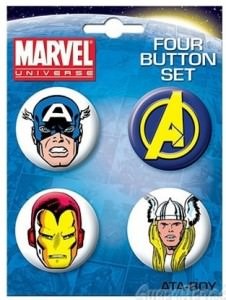 Marvel The Avengers Button Set