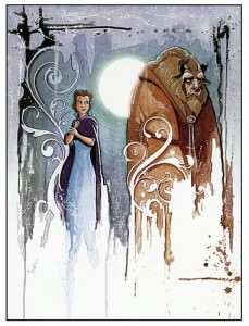 Beauty & the Beast Curse Canvas Giclee