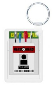 Chuck Pocket Protector Keychain