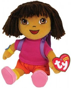 "Dora The Explorer Ty Beanie Babies 8"" Plush"
