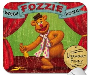 The Muppets Fozzie bear mousepad