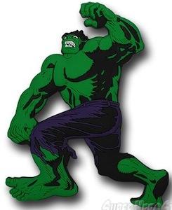 Hulk die cut 3d magnet