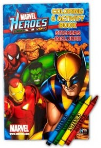 Marvel Heroes Coloring/Activity Books With Crayons.