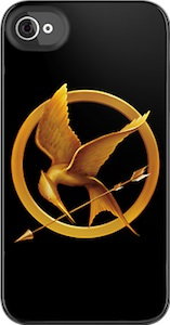 The Hunger Games iPhone Case with the Mockingjay on it