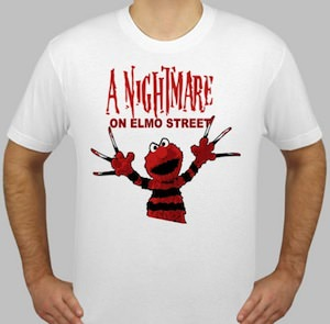 A nightmare on elmo street t-shirt