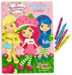 Strawberry Shotcake Coloring books With Stickers