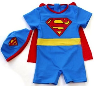 Superman toddler swimwear