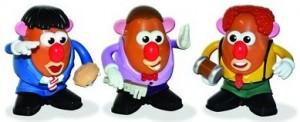 Three Stooges Mr Potato Head Set