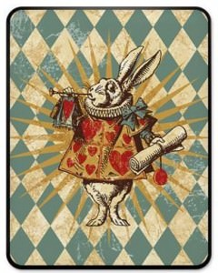 Vintage Alice In Wonderland White Rabbit iPad Case