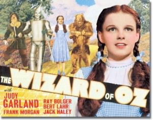 Wizard Of OZ Yellow Brick Road Tin Sign