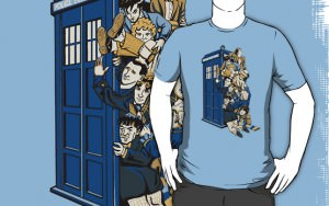 Doctor Who 11 Doctors In Tardis T-Shirt