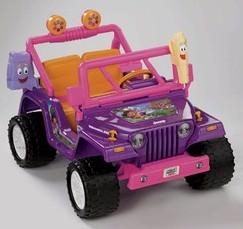 Dora The Explorer Power Wheels Jeep Wrangler.