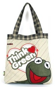 Kermit The Frog Think Green Tote Bag.
