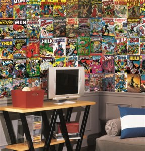 Marvel Comic Book Covers XL Wallpaper Mural 6' x 10.5'