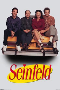 Seinfeld Cast Taxi Poster