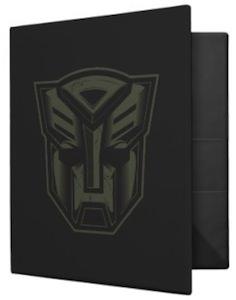 Transformers Autobot binder