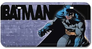Batman Wall graffiti license plate