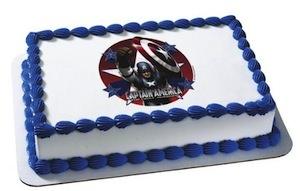 Captain America edible image cake topper