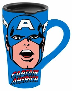 Captain America ceramic travle mug