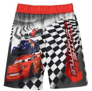 Cars 2 Lightning McQueen boardshorts swimwear