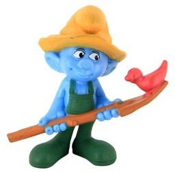 The Smurfs Farmer Smurf Figure