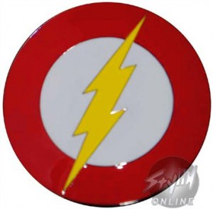 DC Comics Flash Round Belt Buckle