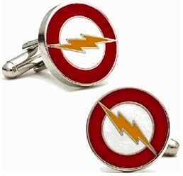 Flash logo cufflinks
