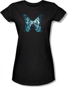 Fringe Butterfly Glyph Baby Doll Tee
