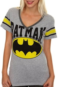 Batman hockey t-shirt with the batman logo on front