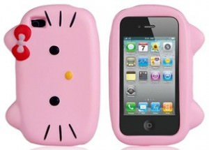 Hello Kitty Head iPhone 4 Case