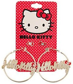 Hello Kitty special earrings 2 pair