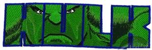 Marvel Incredible Hulk die cut patch