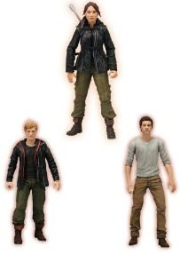 The Hunger Games action figures of Katniss, Peeta and Gale
