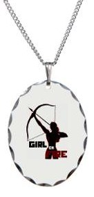 The Hunger Games Katniss Girl on fire necklace