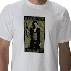 Star Wars Kiss me i'm solo t-shirt
