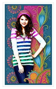 Wizards of waverly place notebook stickers of Selena Gomez