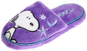 Snoopy women's purple moon slippers