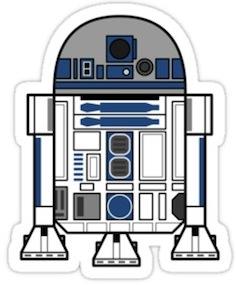 Star Wars R2-D2 droid sticker