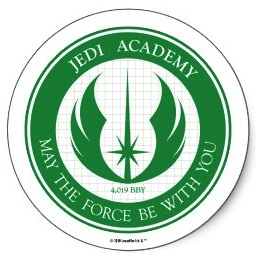 Star Wars jedi Academy logo sticker